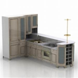 Kitchen furniture 3d max model free 3dsmax free for Kitchen furniture 3d free