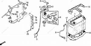 Honda Motorcycle 1983 Oem Parts Diagram For Battery