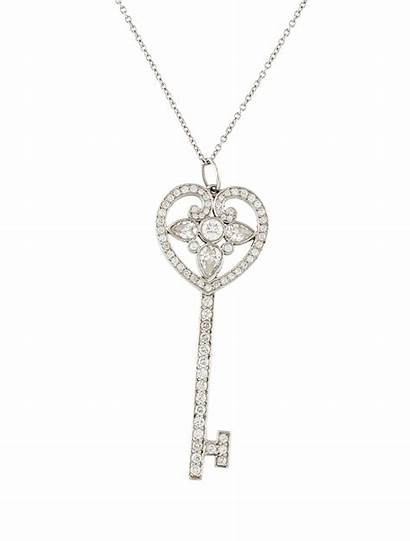 Necklace Tiffany Key Diamond Pendant Heart Jewelry