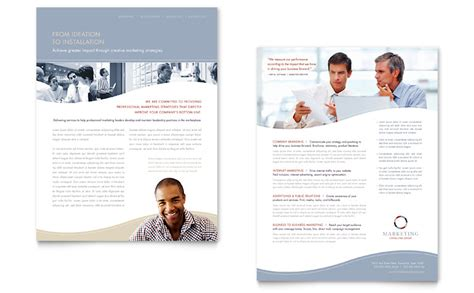 marketing consulting group datasheet template word