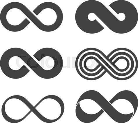 infinity sign infinity flat icon mobius strip vector