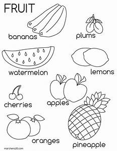 Fruit Pictures For Kids - AZ Coloring Pages Educational