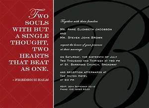 wedding invitations love quotes at mintedcom With wedding invitation thoughts quotes