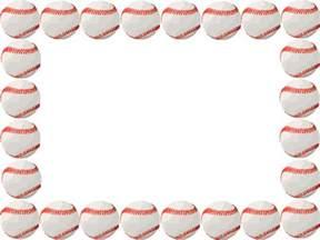 Baseball Page Border Clip Art