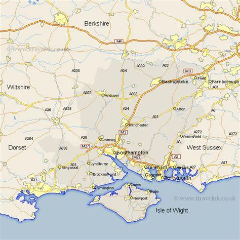 hampshire map england county maps uk