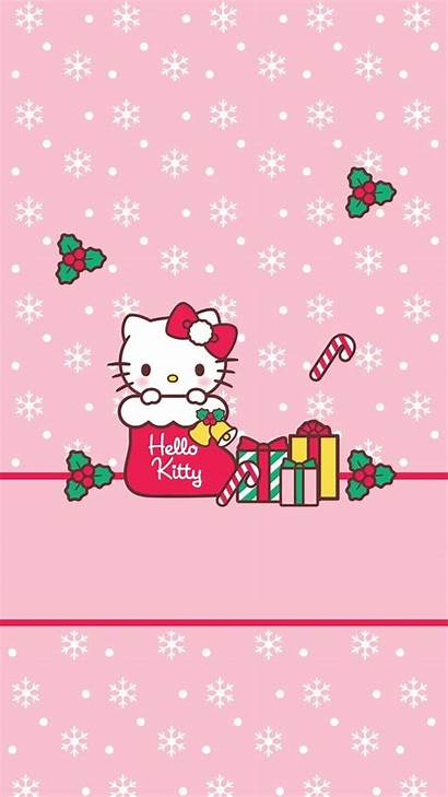 Kitty Hello Christmas Merry Kawaii Iphone Sanrio