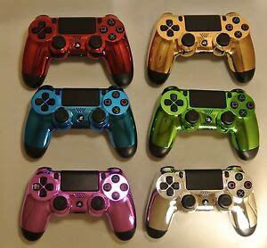 ps4 controllers colors sony dualshock ps4 controller custom chrome colors gold