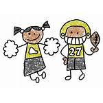 Cheer Homecoming Clip Clipart Cheerleader Football Queen