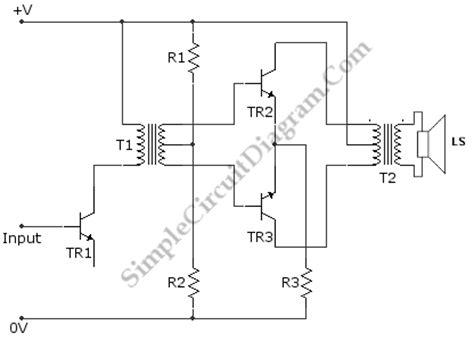 transistor push pull power amplifiercircuit diagram world