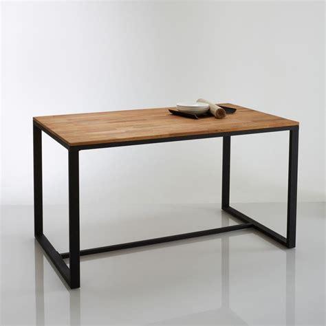 la redoute table cuisine table 4 couverts chêne et acier hiba naturel la redoute interieurs la redoute