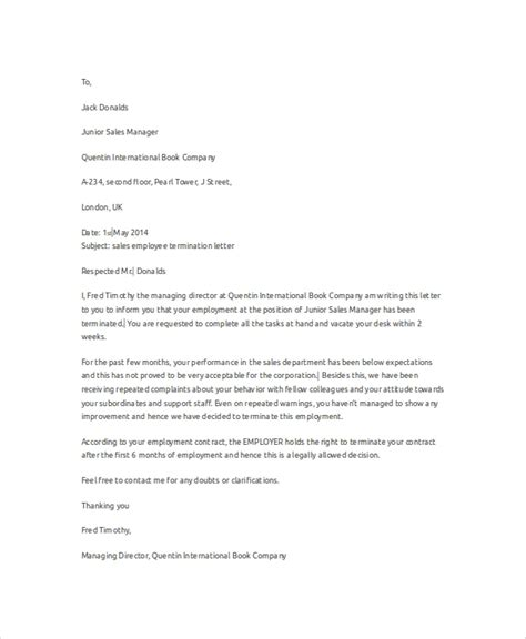 This employee termination letter (redundancy) is designed to be used by an employer to terminate an employee for redundancy. 9+ Sample Employee Termination Letters - Word, PDF, Pages | Sample Templates