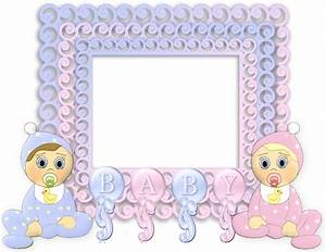 Transparent Pink and Blue PNG Baby Frame | Gallery ...