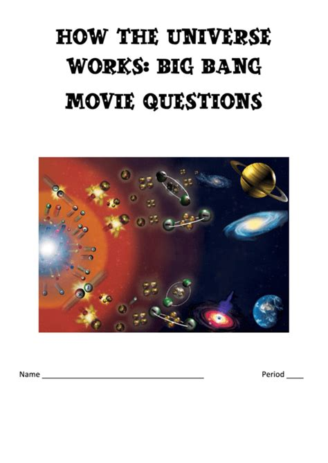 how the universe works worksheet printable pdf