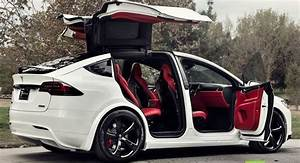 Nice Tesla 2017: Custom Tesla Model X With Bentley Red Interior Selling For $180K... Check more ...