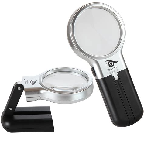 magniviz magnifying glass hobby craft magnifier with led