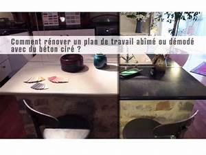 Béton Ciré Sur Plan De Travail Carrelé : lot central en b ton cir espace cuisine betoncire ~ Dailycaller-alerts.com Idées de Décoration