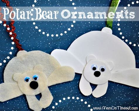 cool polar bear crafts  winter  christmas season
