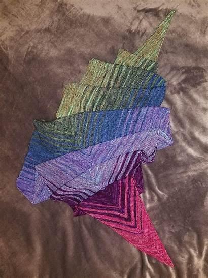 Fade Shawl Pattern Finished Knitting Fo Shove