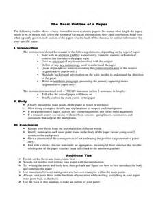 basic outlines basic outline of a paper free download