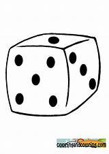 Dice Coloring Template sketch template