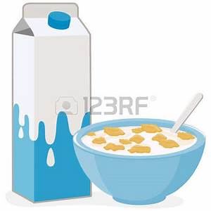 Cereal Bowl With Milk Clipart (79+)