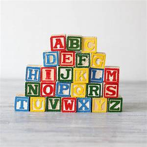 wooden alphabet block set With alphabet letters wooden blocks
