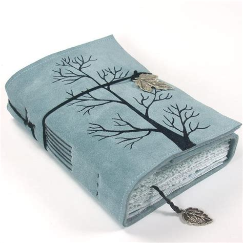 cuero journals winter tree leather journal notebook suede