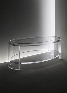 acrylic eclipse oval coffee table in acrylic and glass With oval acrylic coffee table