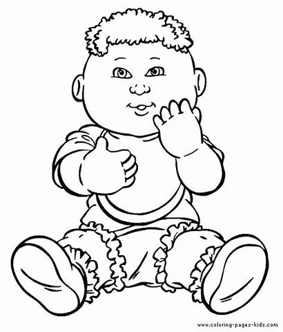 Cabbage Patch Coloring Pages Cartoon Colouring Characters