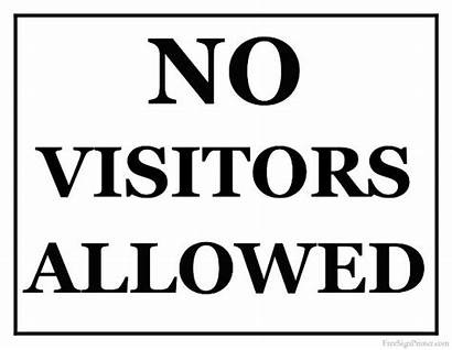 Visitors Allowed Sign Printable Signs Pdf Guest