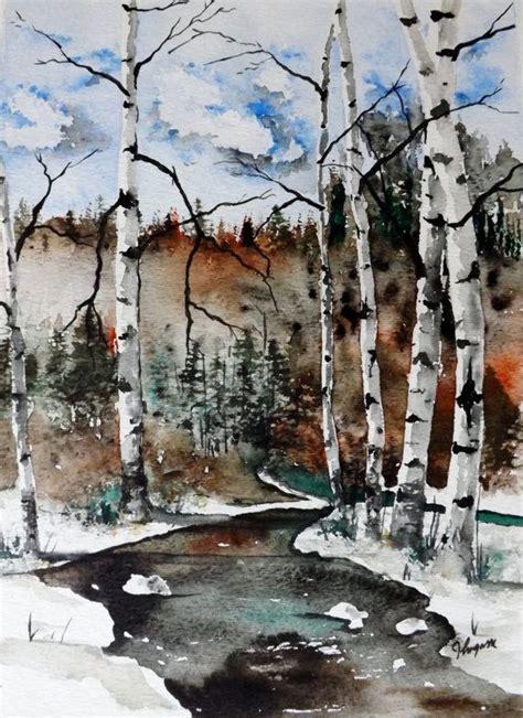 images  art watercolor trees  pinterest