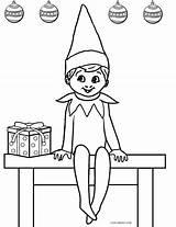 Elf Coloring Printable Shelf Cool2bkids sketch template