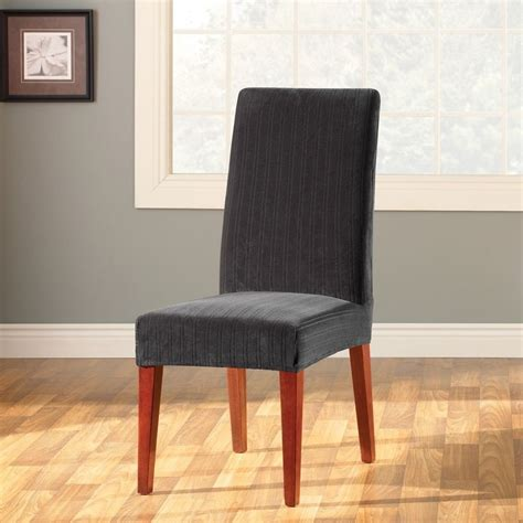 sure fit slipcovers chair sure fit stretch pinstripe dining chair slipcover ebay