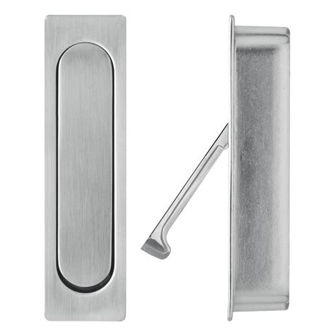 delf satin chrome edge pull sliding door handle bunnings