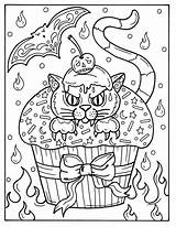 Coloring Pages Halloween Adult Cupcakes Cat Instant Spooky Digital Etsy Animal Witch Cupcake Digi Stamp Sold Myy Tuotteen sketch template