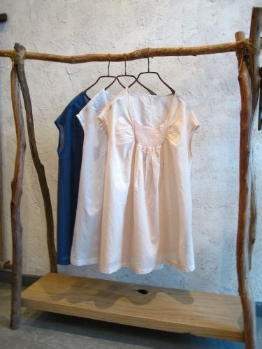 front shirring cotton blouse clothing rack rustic