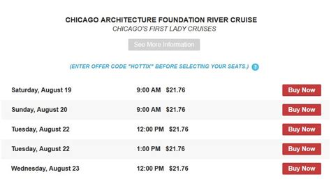 Chicago Boat Show Discount Coupons by Discount Chicago Architecture Foundation River Cruises