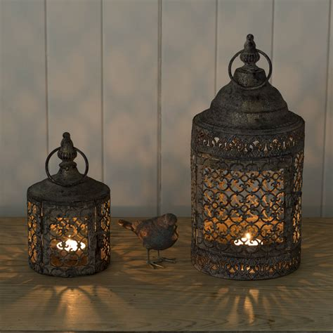 copper lanterns for candles moroccan style lattice candle lantern by the flower studio