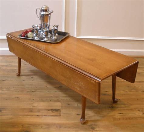 vintage drop leaf coffee table    custom