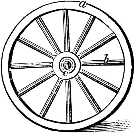 wheel showing parts clipart