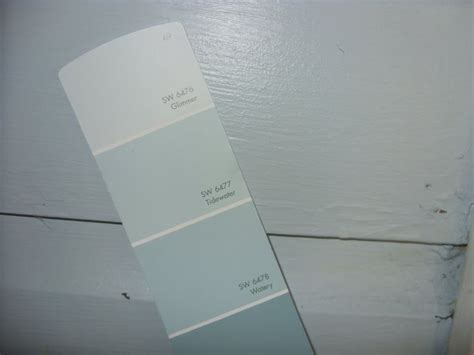 tidewater and glimmer from sherwin williams i can t wait