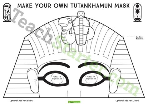Tut Poster Template by Make Your Own King Tutankhamun Mask Teaching Resource