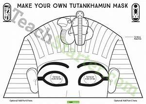 Make your own king tutankhamun mask teaching resource for King tut mask template