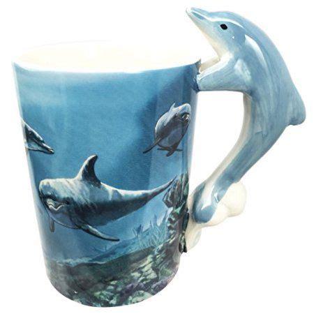 ocean marine reef bottlenose dolphin oz ceramic mug