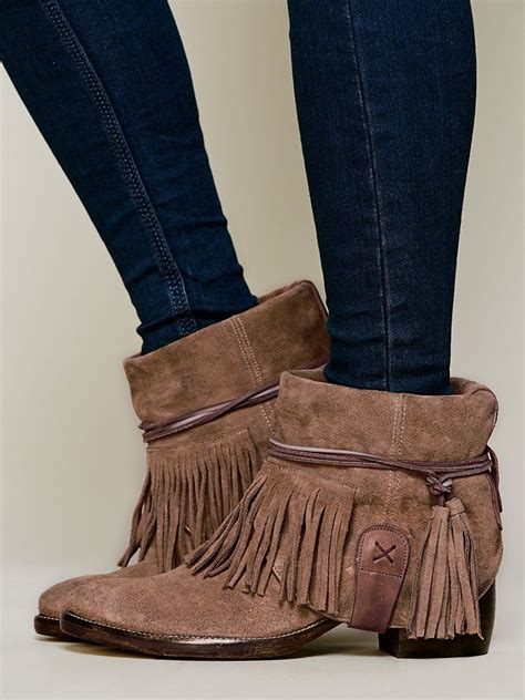 people lonesome fringe ankle boot httpwww