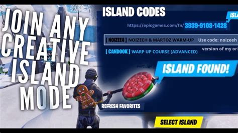 join  creative islands  fortnite mobile