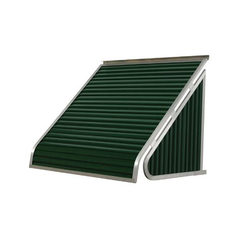 shop nuimage awnings   wide    projection hunter green solid slope window awning