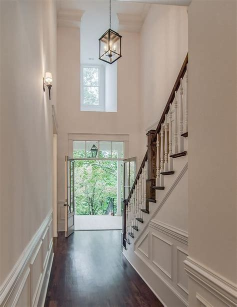 2 story foyer chandelier two story foyer with carriage lantern and stained