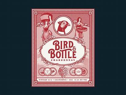 Bird Wine Bottle Label Slider Labels Chardonnay