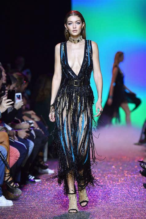 GIGI HADID at Elie Saab Fashion Show at Paris Fashion Week ...